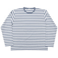 Narrow Border L/S White-Grey