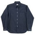 Round Collar Shirt D-OX Navy