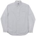 Narrow Round Collar Shirt White