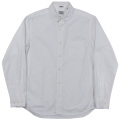 Narrow Round Collar Shirt White