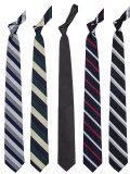 Narrow Silk Repp Tie