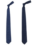 Narrow Silk Tie Star Dot / Polka Dot
