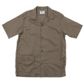 Open Collar Shirt Khaki