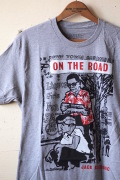 "Out of Print T-Shirt On The Road""Jack Kerouac"" Grey-1"