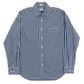 Narrow Round Collar Shirt Gingham