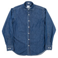 Round Cutaway Shirt Denim Washed