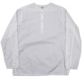 Sleeping Shirt Long Sleeve White Twill