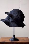 TCBjeans 30's Hat Black Yorimoku Twill-1