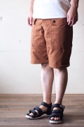 TCB jeans Crawling Shorts Brown Canvas-1