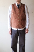 TCBjeans Foremen Vest, Brown Duck-1