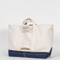 Tool Bag 2-tone L Short, Ecru-Navy
