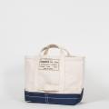 Tool Bag 2-tone M Short, Ecru-Navy