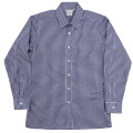 Vendome Shirt Blue Plaid Poplin Thomas Mason
