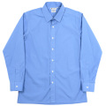 Vendome Shirt Blue Poplin Thomas Mason