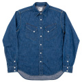 Western Shirt 8oz Indigo Denim Washed
