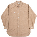 Work Shirt Vintage Fit 5oz Brown Covert