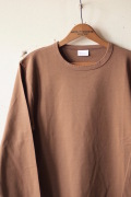 WORKERS AB Plain Crew Neck L/S Tee Coyote-1