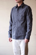 WORKERS Anchor Shirt Fade Grey Chambray-1
