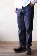 WORKERS Baker Pants Slim 2-Tone (Black×Navy)-1