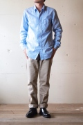 WORKERS BB Button Down Shirt Blue-1