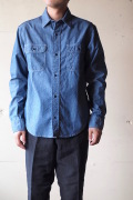 WORKERS Big Work Shirt Blue Chambray-1