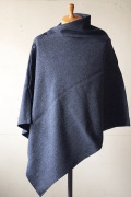 WORKERS Button Shawl Wool Pattern Tweed-1