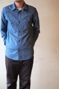 WORKERS Champion Shirt3, Blue Chambray-1