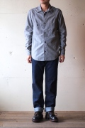 WORKERS Champion Shirt, Grey Chambray-1