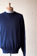WORKERS Cotton Knit Sweater, Navy-1