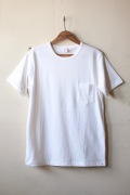 WORKERS Crew Neck Pocket Tee White-1