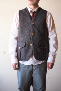 WORKERS Cruiser Vest Homespun Tweed Brown-1
