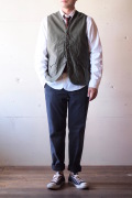 WORKERS Cruiser Vest Reversed Sateen OD-1