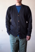WORKERS FC Knit Medium Weight Cardigan Black-1