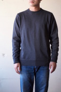 WORKERS FC Knit Medium Weight Crew Neck Charcoal-1