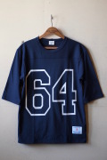 WORKERS Football Tee 64 Navy-1