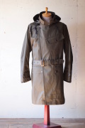 WORKERS Hooded Moto Coat Ventile Twill Khaki-1