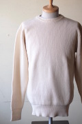 WORKERS Law Gauge Cotton Knit Sweater White-1