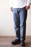 WORKERS Maple Leaf Trousers Cotton Flannel Grey-1