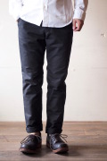 WORKERS Maple Leaf Trousers Double Cloth Black-1