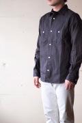 WORKERS MFG Work Shirt Twill Charcoal Black-1