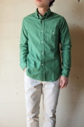 WORKERS K&TH Middle Point BD Shirt, Green-1