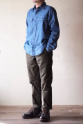 WORKERS MIL Trousers Slim Fit Heavy Serge Khaki-1