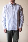 WORKERS Modified BD Shirt 6.5oz D-OX Blue Stripe-1