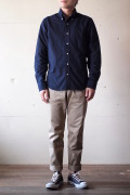 WORKERS Modified BD Shirt 6.5oz D-OX Navy-1