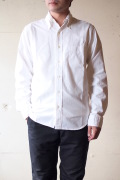 WORKERS Modified BD Shirt 5oz White Chambray-1