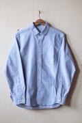 WORKERS Narrow Collar Shirt Blue OX-1