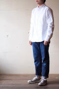 WORKERS Narrow Collar Shirt White OX-1