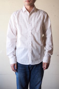WORKERS Narrow Round Collar Shirt Tattersall-1