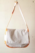 WORKERS Newspaper Bag, White/Orange-1