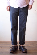 Workers Officer Trousers 10oz Cotton Serge Grey-1